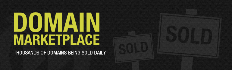 Domain Marketplace. Thousands of domains being sold everyday.